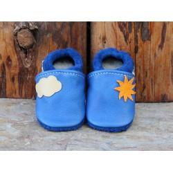 chaussons cuir soleil