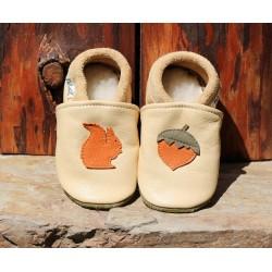 chaussons en cuir fabriqués en France